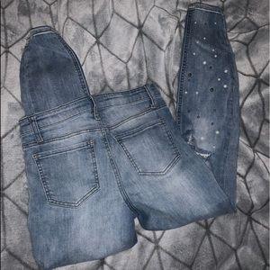Hippie Laundry beaded skinny jeans.